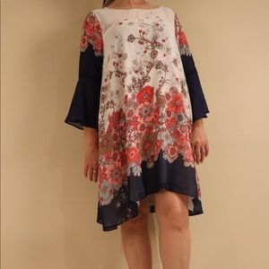 Umgee   Fabulous Floral Swing Boho Dress